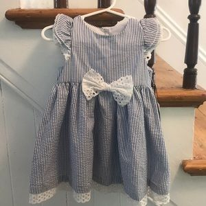 Pippa & Julie blue & white gingham striped dress